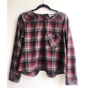 Red and black plaid blouse by JACK